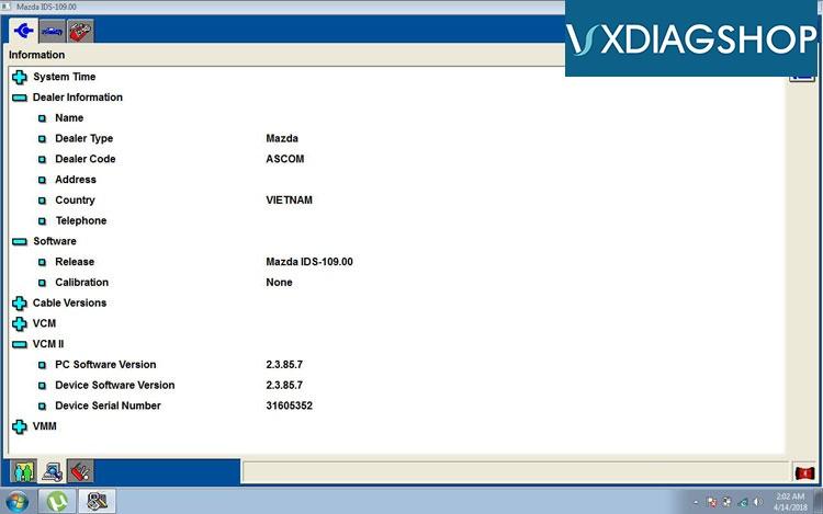 Free Download VXDIAG VCX NANO Ford IDS V110 Mazda IDS V109