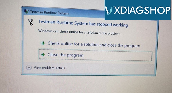 vxdiag-ford-ids-runtime-error