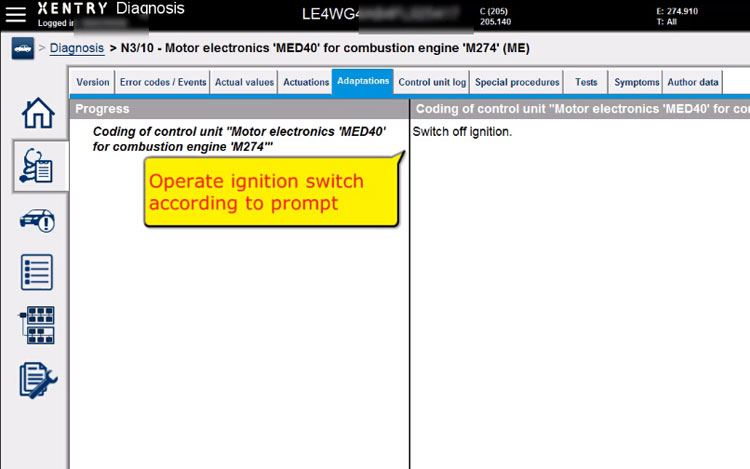 vxdiag-c6-benz-w205-med40-coding-11