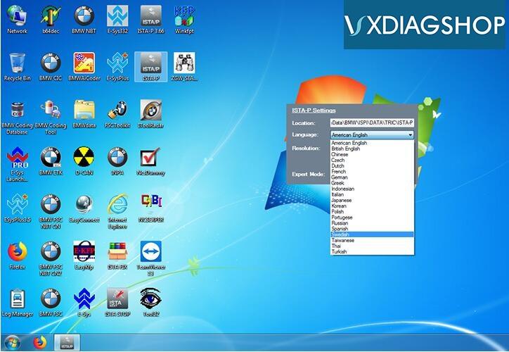 vxdiag-bmw-ista-p-language