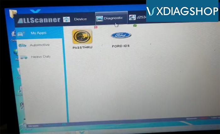 Start Vxdiag Ford Ids 3