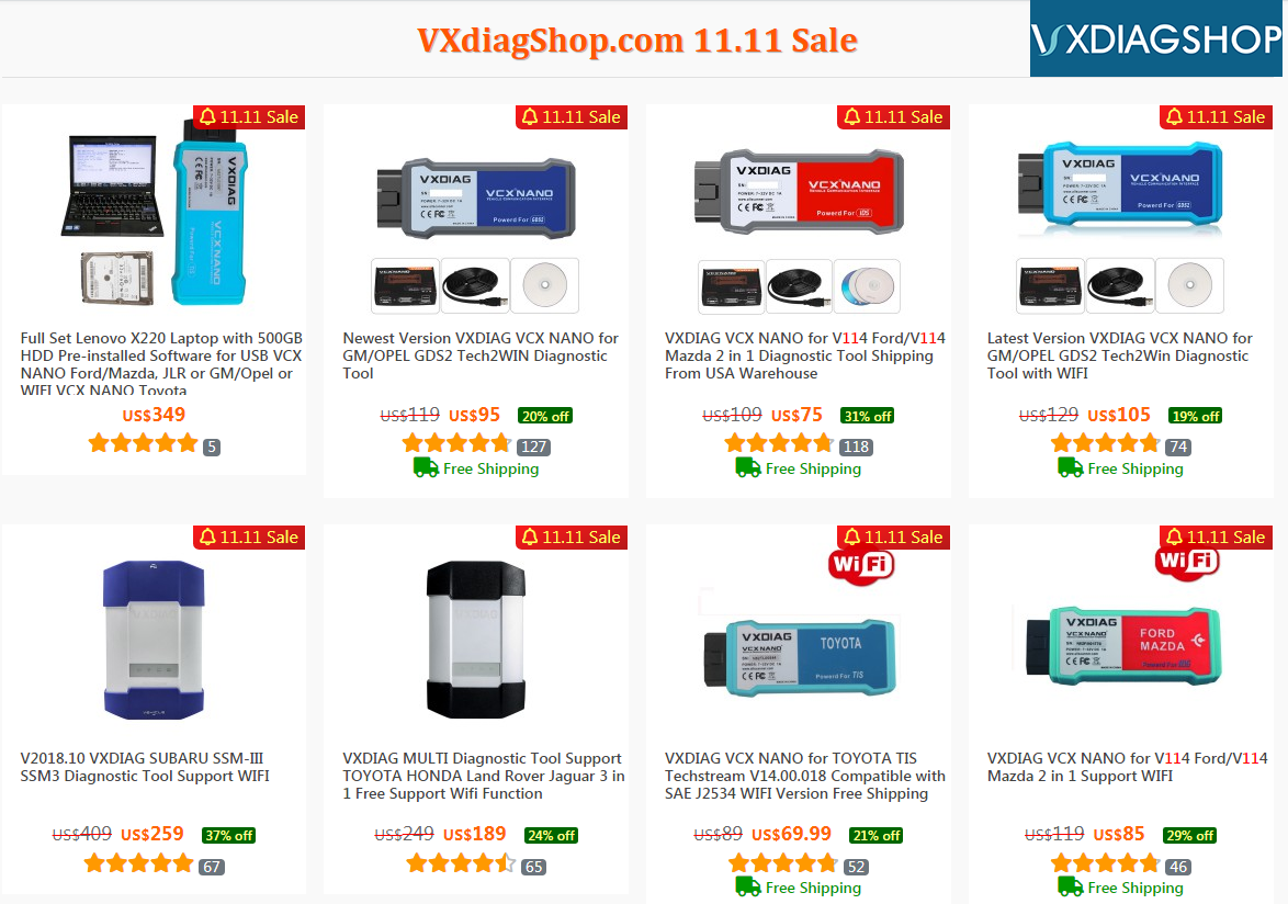 Vxdiag Double 11 Sale 1