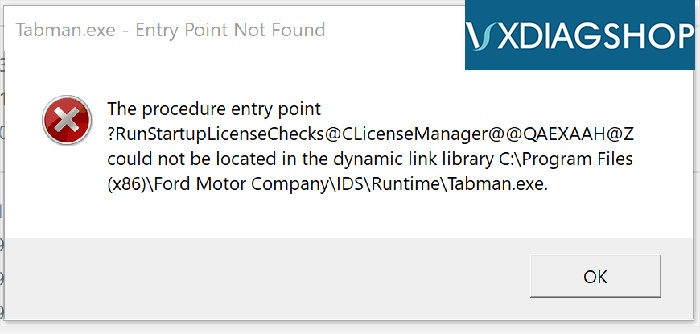 Vxdiag Ford Ids Entry Point Not Found