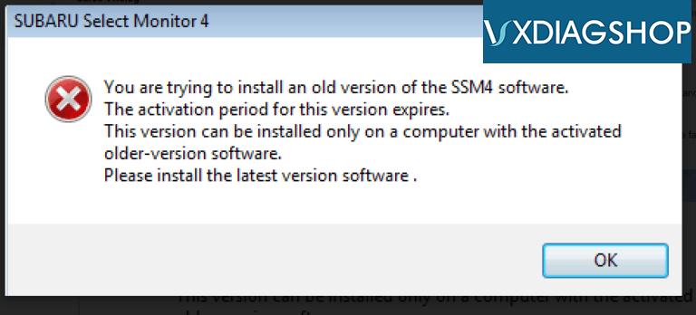 Vxdiag Subaru Ssm4 Expire Error