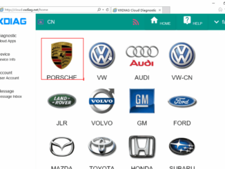 Vxdiag Porsche Cloud Diagnosis 2