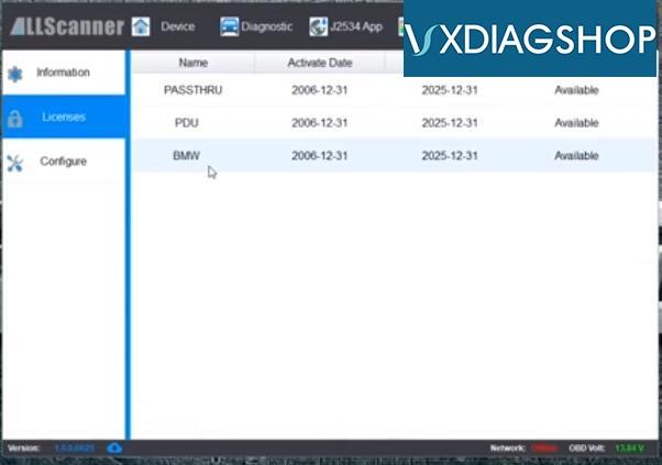 Vxdiag Vcx Se For Bmw 19