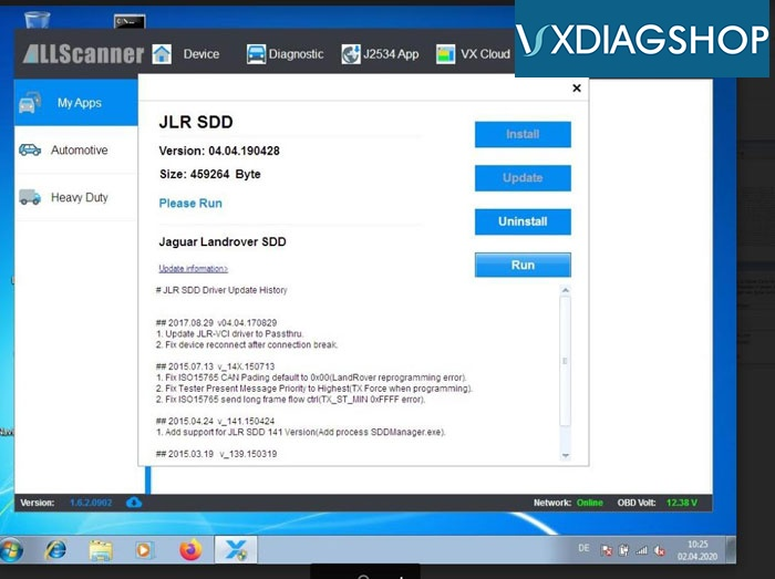 Vxdiag Jlr Sdd Http 500 Error 1