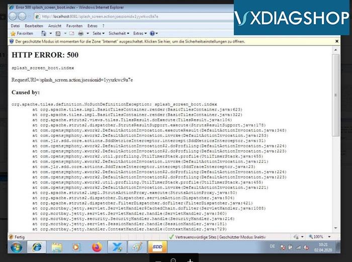 Vxdiag Jlr Sdd Http 500 Error 3