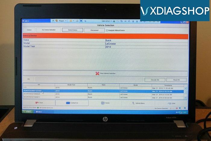 Vxdiag Vcx Nano Gm 2014 Buick 3