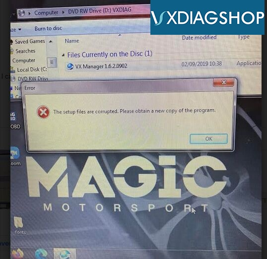 Vxdiag Vcx Se Bmw File Corrupted