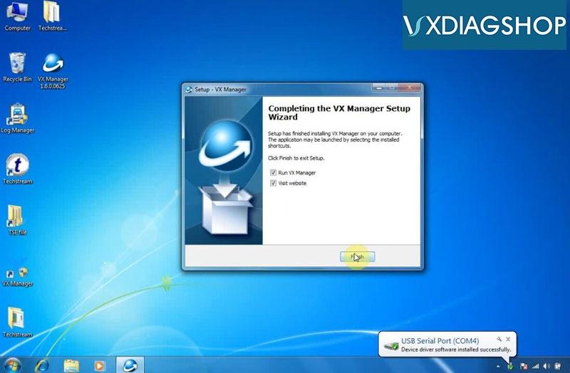 Install Vxdiag Toyota Techstream V15 11
