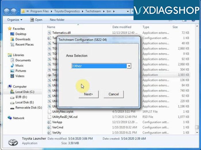 Install Vxdiag Toyota Techstream V15 14