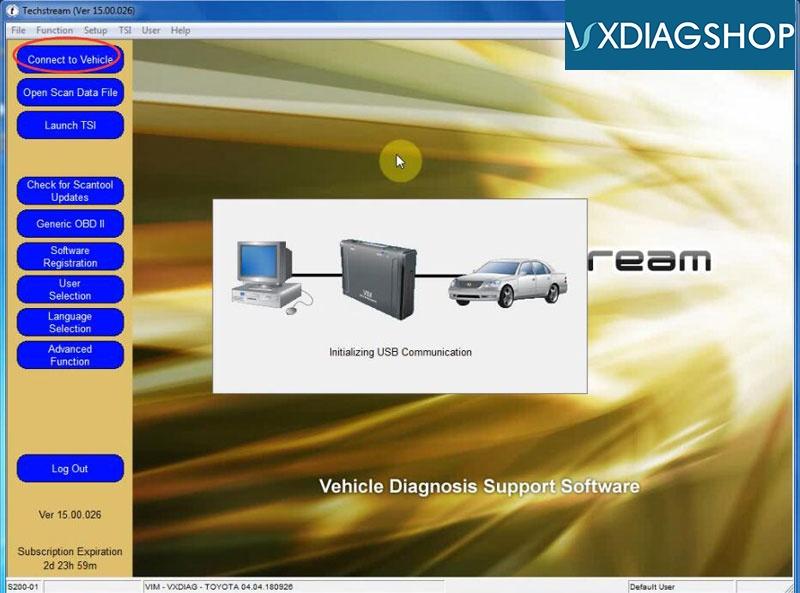 Install Vxdiag Toyota Techstream V15 17