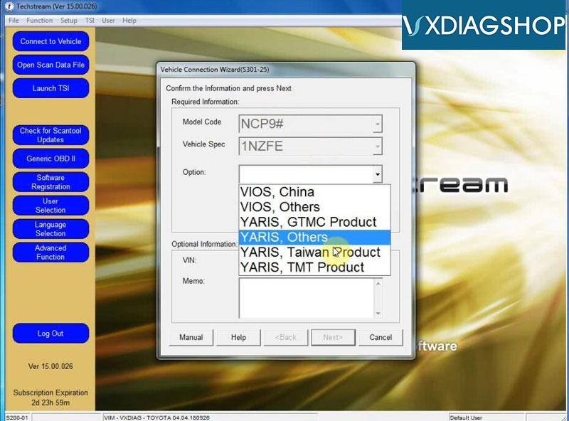 Install Vxdiag Toyota Techstream V15 18