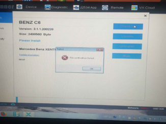 Vxdiag Benz C6 File Verification Failed