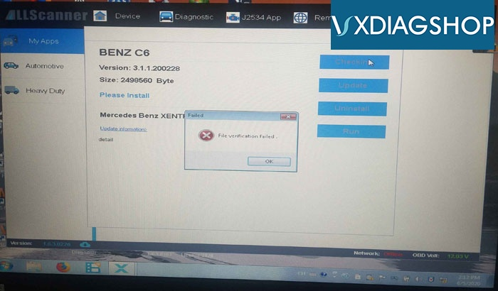 Vxdiag Benz C6 File Verification Failed