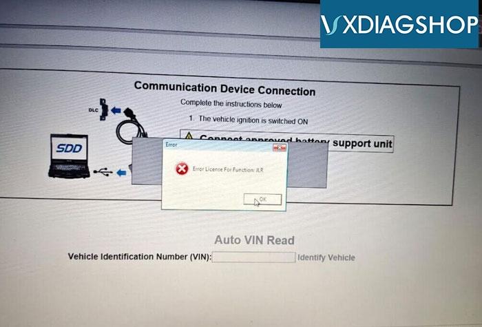 Vxdiag Jlr Missing License