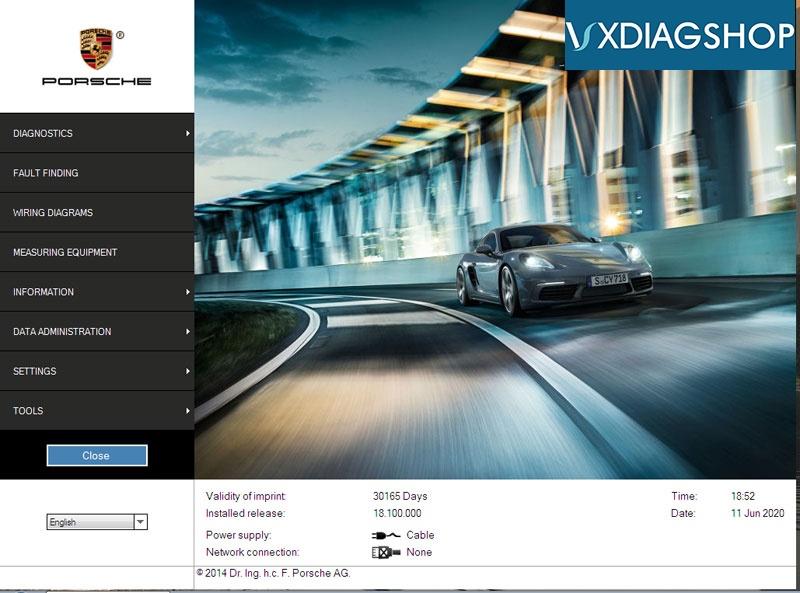 Vxdiag Porsche Piwis V18