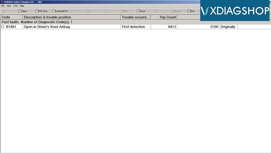 Vxdiag Subaru Edr Data 5