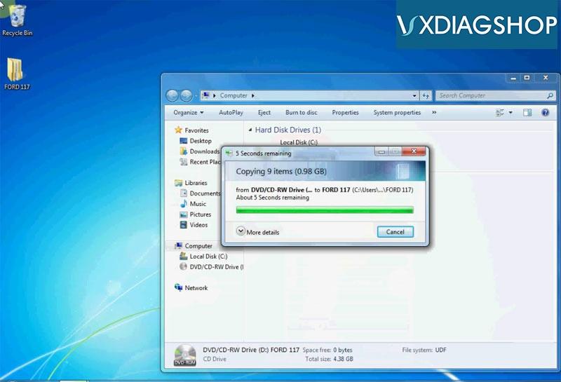 Install Vxdiag Ford Ids V117 1