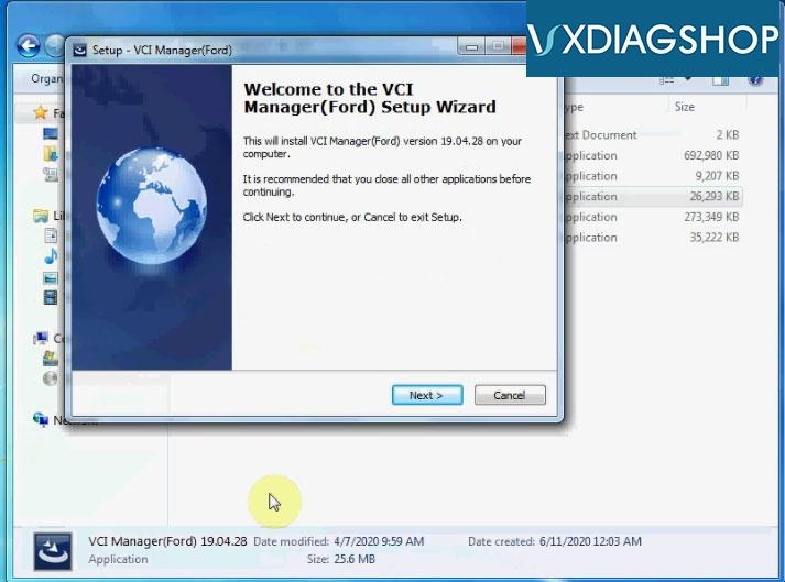 Install Vxdiag Ford Ids V117 11