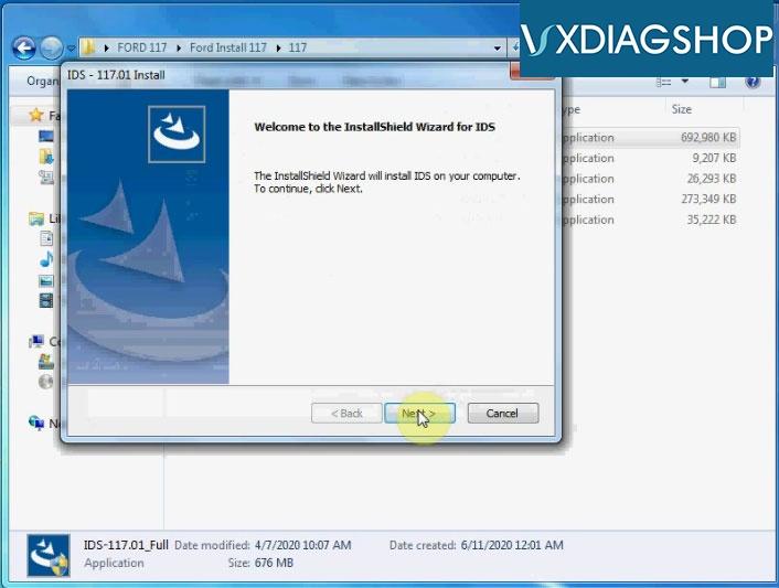 Install Vxdiag Ford Ids V117 4