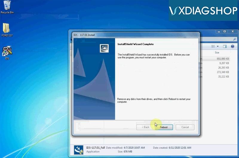 Install Vxdiag Ford Ids V117 6