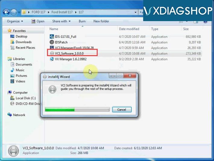 Install Vxdiag Ford Ids V117 7