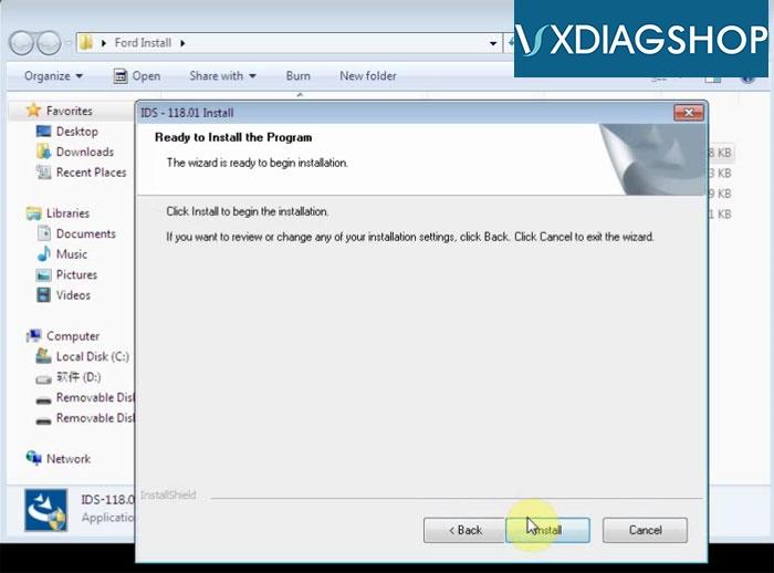 Install Vxdiag Ford Ids V118 3