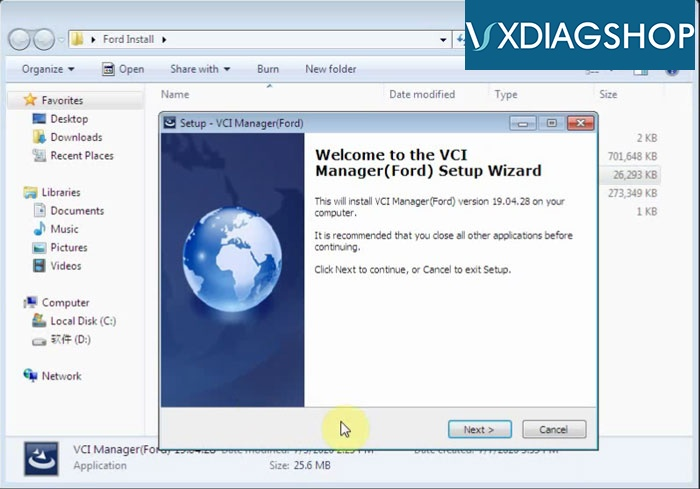 Install Vxdiag Ford Ids V118 8
