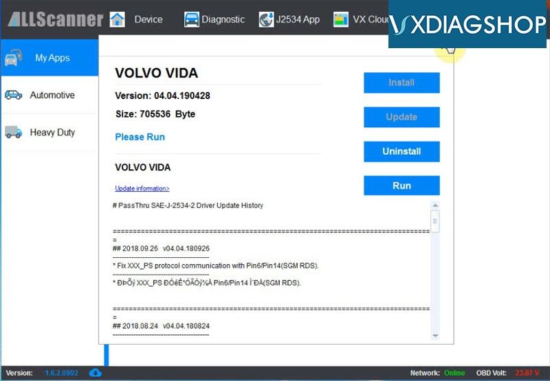 Install Vxdiag Volvo Vida 2015a 22