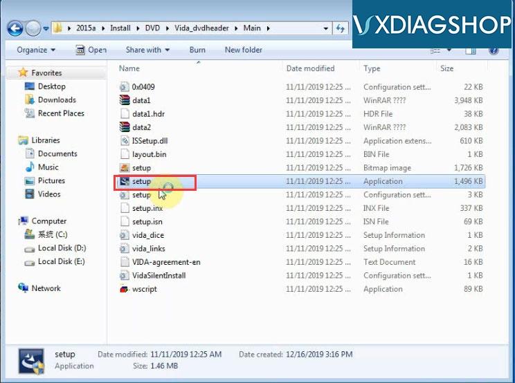 Install Vxdiag Volvo Vida 2015a 4