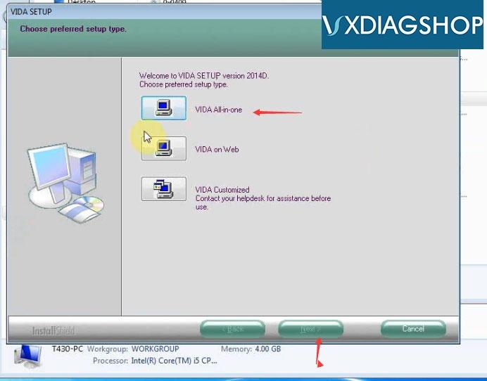 Install Vxdiag Volvo Vida 2015a 6