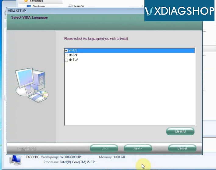 Install Vxdiag Volvo Vida 2015a 7