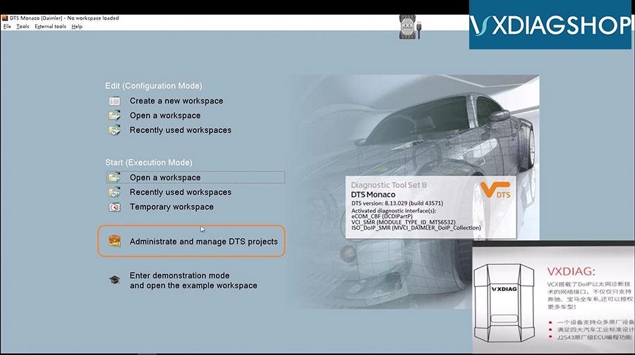 Vxdiag Benz C6 Dts Monaco Doip Programming 03