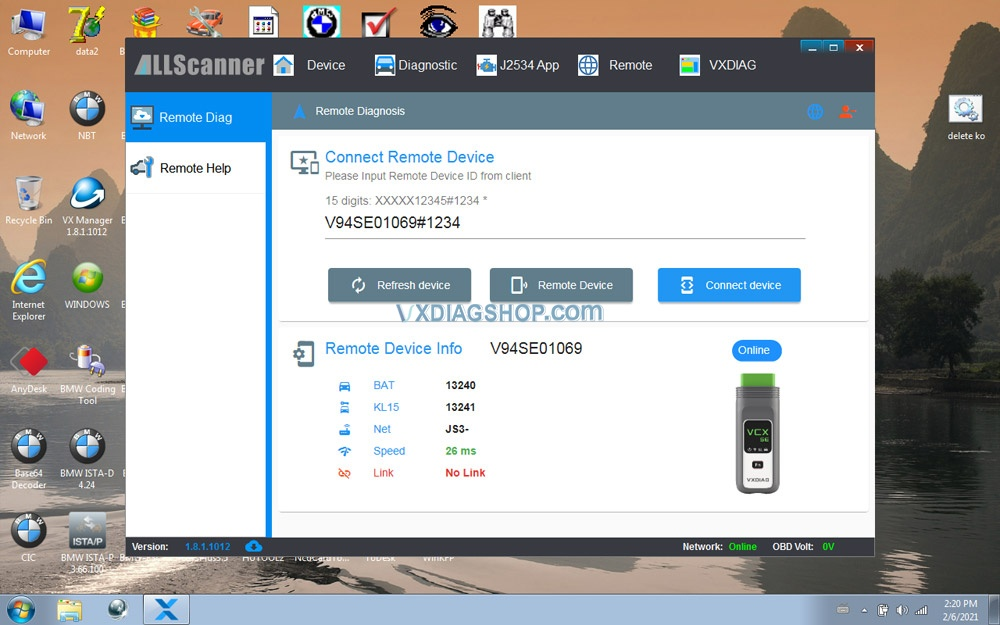 Newest Vxdiag Vcx Se For Benz Donet Setting 16