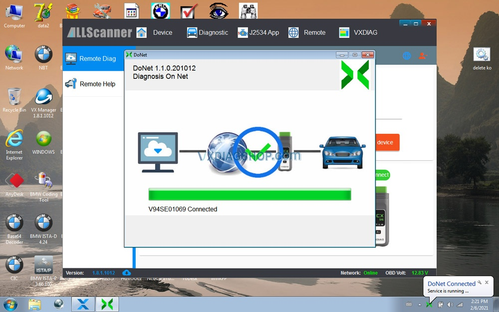 Newest Vxdiag Vcx Se For Benz Donet Setting 18