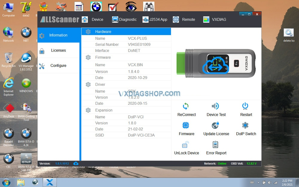 Newest Vxdiag Vcx Se For Benz Donet Setting 19