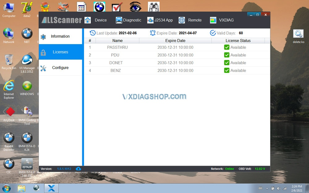Newest Vxdiag Vcx Se For Benz Donet Setting 20