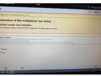 """Solve Vxdiag Benz C6 """"initialization Of The Multiplexer Has Failed"""" Problem 01"""