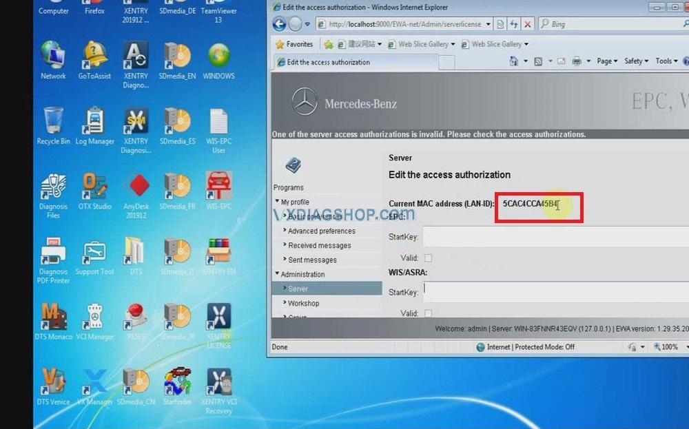 Vxdiag Benz C6 Xentry Epc Wis Software Activation 03