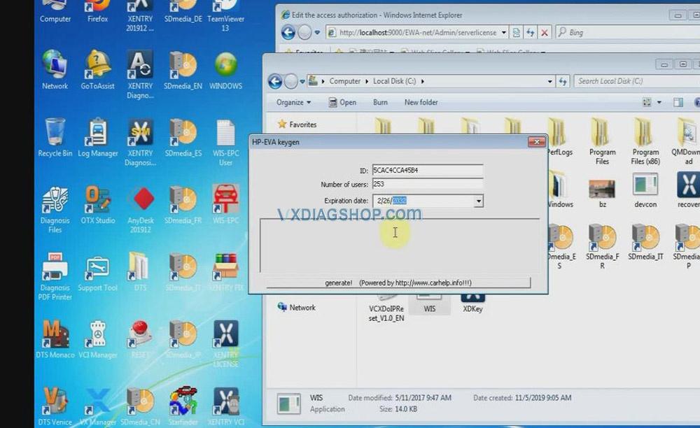 Vxdiag Benz C6 Xentry Epc Wis Software Activation 05