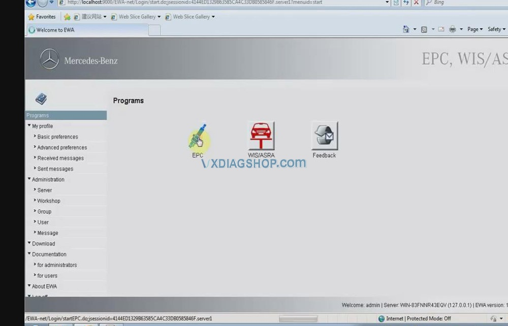 Vxdiag Benz C6 Xentry Epc Wis Software Activation 08