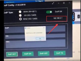 Vxdiag Vcx Se For Benz Doip Device Not Connected Solution 01