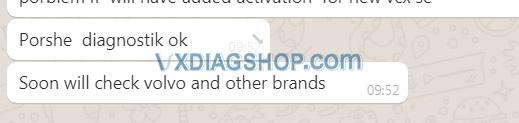 Vxdiag Vcx Se For Benz Donet Customer Feedback 04