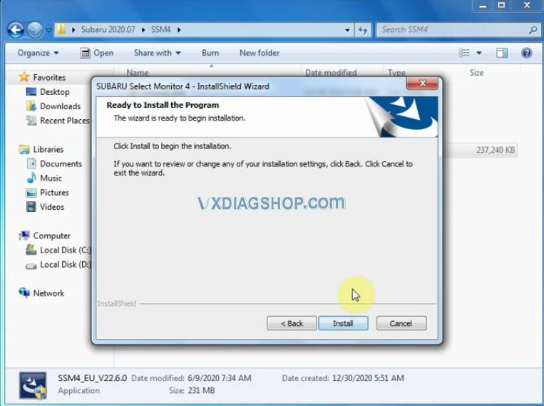 Install Vxdiag 2020 07 Subaru Ssm3 10