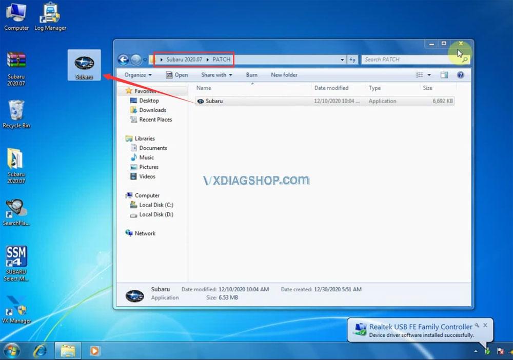 Install Vxdiag 2020 07 Subaru Ssm3 16