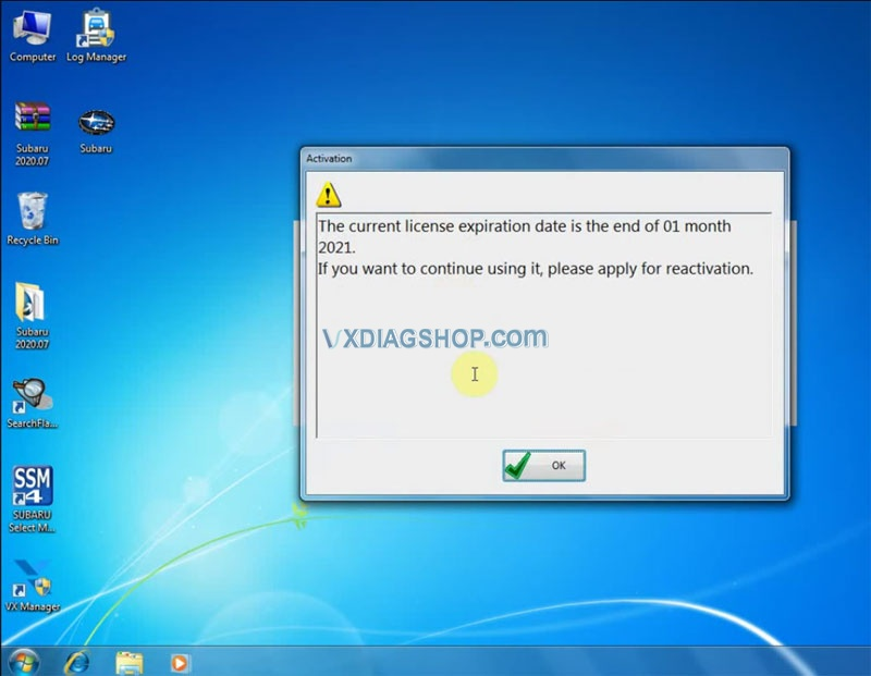Install Vxdiag 2020 07 Subaru Ssm3 17