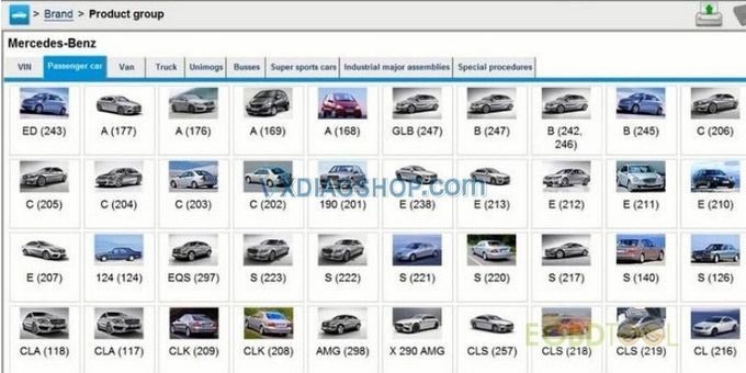 Vxdiag Vcx Se For Benz Supported System Models 02