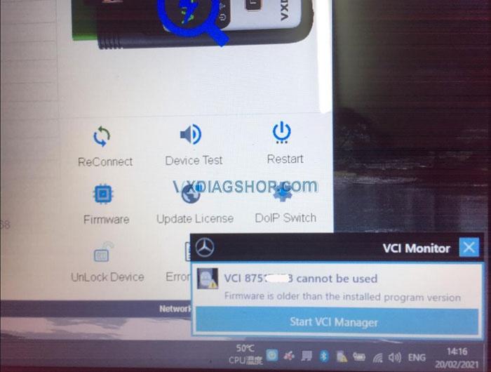 Vxdiag Benz 2020 12 Vci Firmware 4